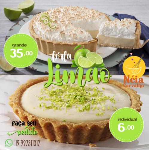 Torta de Limão Grande e Individual em Limeira