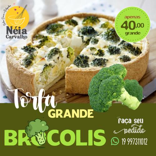 Torta Grande Brócolis em Limeira